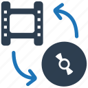 clip, film, media, movie, video conversion icon