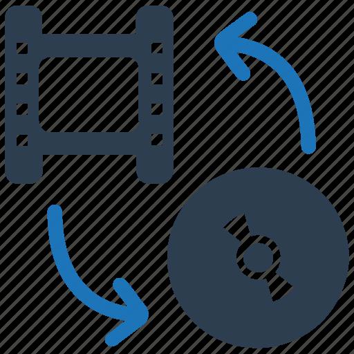 clip, film, media, movie, video conversion icon