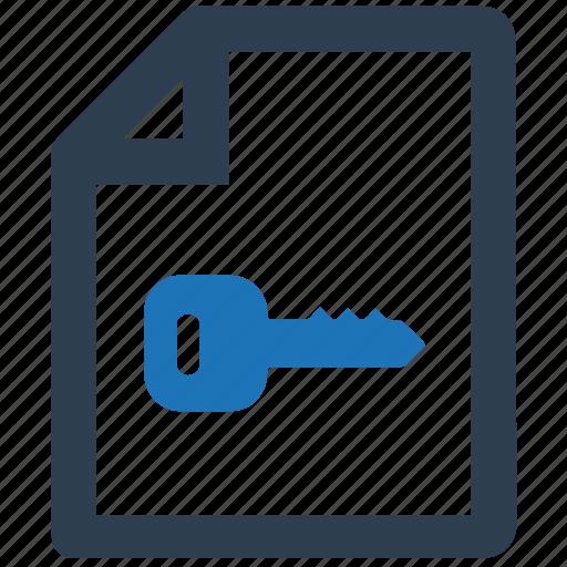 Document, document encryption, encryption, file, key icon - Download on Iconfinder