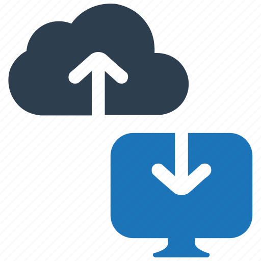 Cloud computing, cloud connection, cloud drive, cloud network, monitor icon - Download on Iconfinder