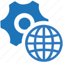 global network, internet, options, support, web settings icon