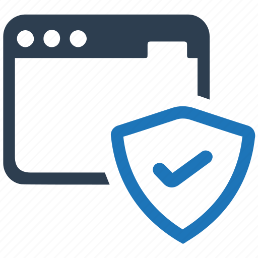 network, security, shield, web protection, web shield icon