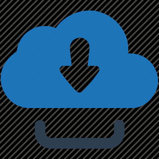 cloud, cloud download, download, downloader, downloading, guardar, save icon