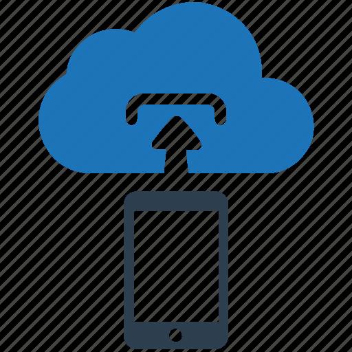 Cloud upload, data, mobile, storage, upload icon - Download on Iconfinder
