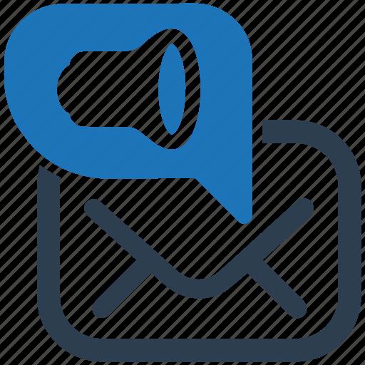 email, email marketing, marketing, promotion, speaker icon