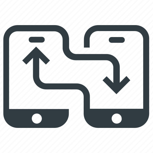 data exchanging, data sharing, send, sharing, wireless sharing icon