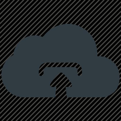 cloud upload, data, storage, upload icon