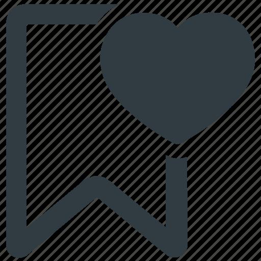 bookmark, favorite, favourite bookmark, like, love icon