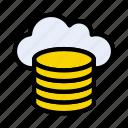 database, server, cloud, storage