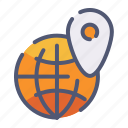 location, pin, seo, internet, globe