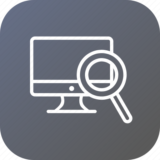 desktop, device, display, monitor, optimization, search, seo tool icon