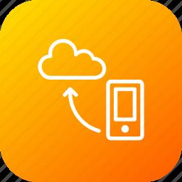 cloud, data, mobile, optimization, seo, sync, synchronization icon