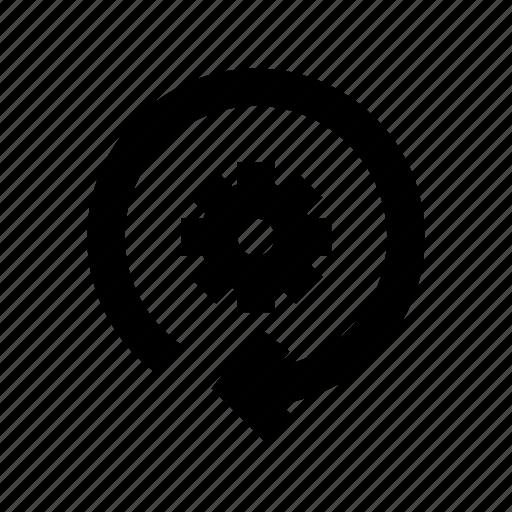 cog, refresh setting, reset, restore, update setting icon