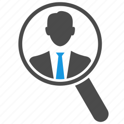 hr, human resources, magnifier, magnifying glass, optimization, search, seo icon