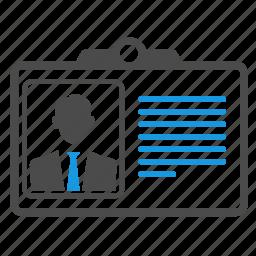 avatar, badge, business card, card id, cv, document, identity, profile, seo icon