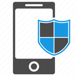 antispam, antivirus, brandmauer, device, firewall, phone, seo, shield icon