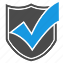 accept, antivirus, brand, checkmark, firewall, seo, shield icon