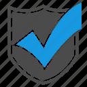 antivirus, firewall, shield, accept, checkmark, seo, security icon