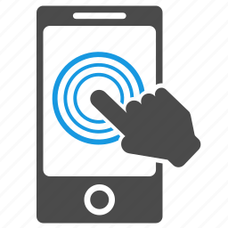 click, cursor, hand, mobile, pay per click, phone, touch screen icon