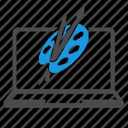 art, brand, creative, graphic, laptop, paintbrush, seo, web design, website icon