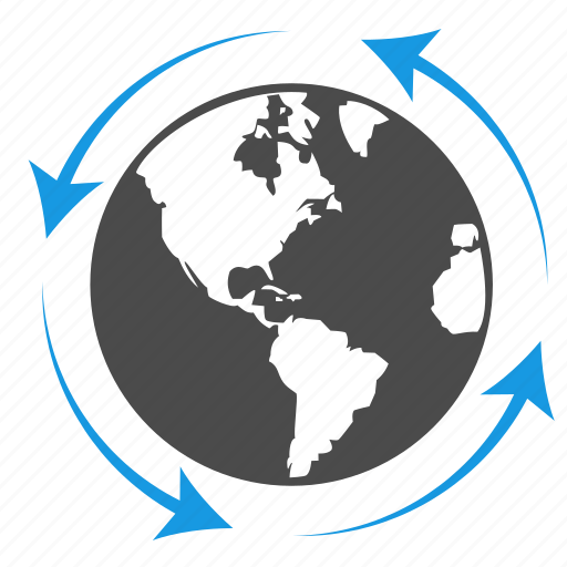 arrow, business, connection, earth, globe, planet, seo, solutions icon