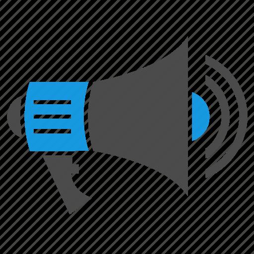 ads, advertising, bullhorn, loudspeaker, megaphone, seo, social, speaker icon
