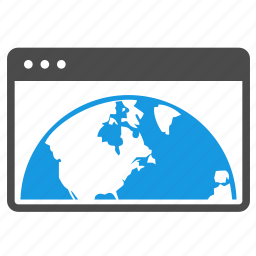 browser, connection, development, earth, globe, preferences, seo, website icon