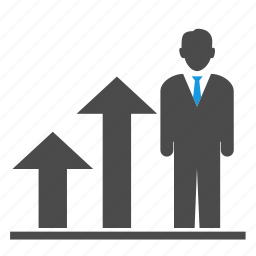 arrow, briefcase, businessmen, career, career building, growth, seo, up icon