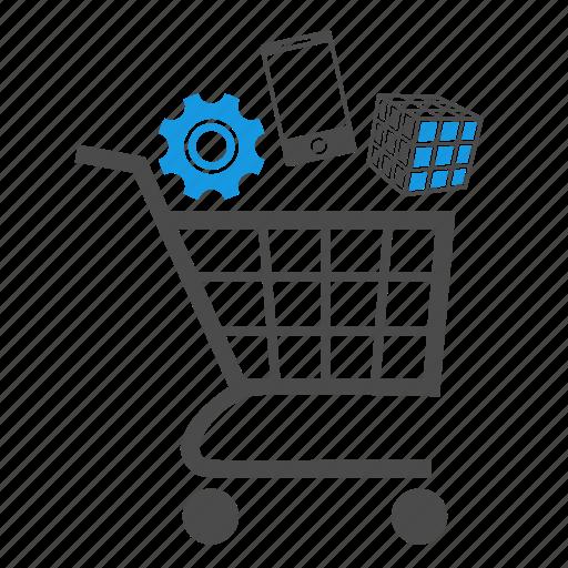 app store, application, cart, e-commerce, gear, marketing, phone, seo, webshop icon