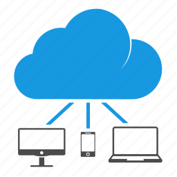 cloud computing, devices, download, icloud, laptop, mobile, seo, synchronization icon