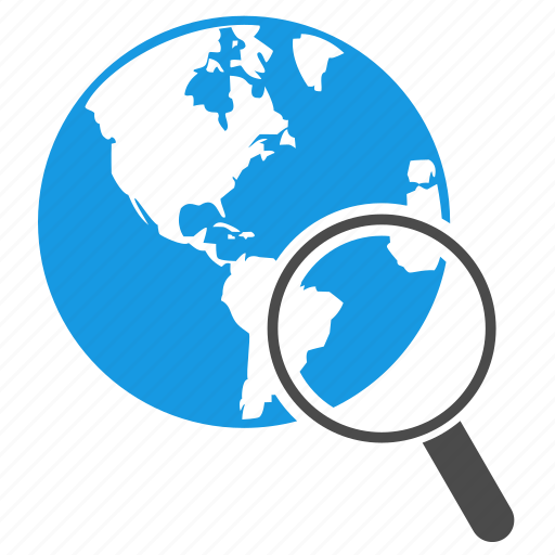 earth, engine, global, globe, magnifying glass, planet, seo icon