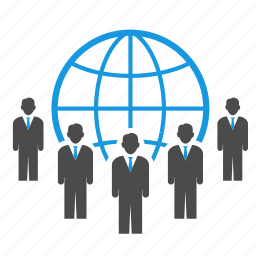 alliance, audience, business, businessmen, global, globe, people, seo icon