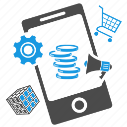 ads, advertising, app store, application, bullhorn, cart, marketing, seo icon