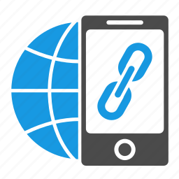 build, connection, earth, globe, hyperlink, link, phone, seo, url icon