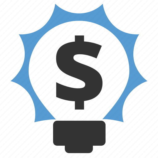 budget plan, bulb, dollar, income, investment, money, profit icon