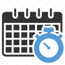 alarm, calendar, clock, month, reminder, schedule, time table icon