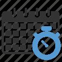 calendar, clock, schedule icon