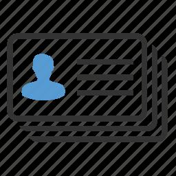 account, contact, identification, portfolio, profile, resume, vacancy icon