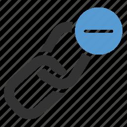 bound, delete, link building, minus, remove, unlink, url icon