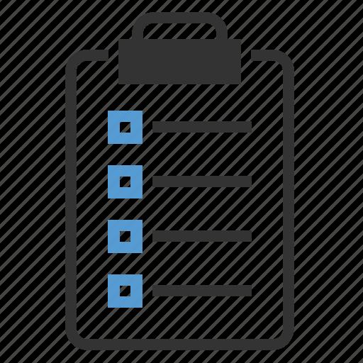 checklist, list, organizer, record, survey, tasks, todo icon