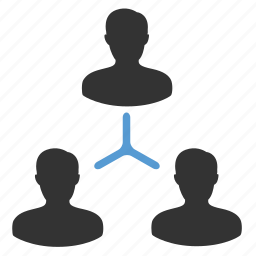 company, connections, hierarchy, leader, management, organization, team building icon