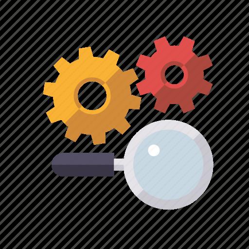 cogs, marketing, search engine, seo, service, setup, web icon