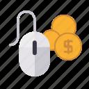 marketing, money, mouse, pay per click, seo, service, web