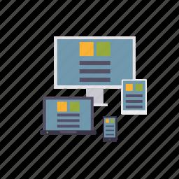 devices, marketing, responsive design, seo, service, web, web design icon