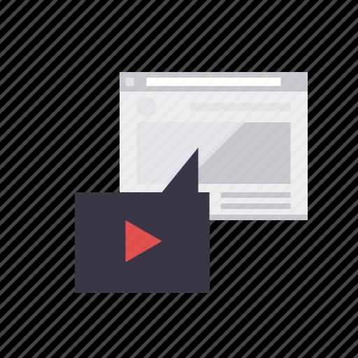 embedding, marketing, seo, service, video, web, web page icon