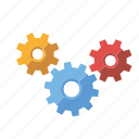 cogs, installation, marketing, seo, service, setup, web icon
