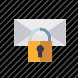 encryption, lock, marketing, message, seo, service, web icon