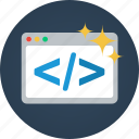 code, coding, css, developer, html, php, programming icon