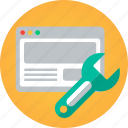 fix, fixing, improve, improving, monkey, repair, repairing, search engine optimization, seo, settings, website, wrench icon