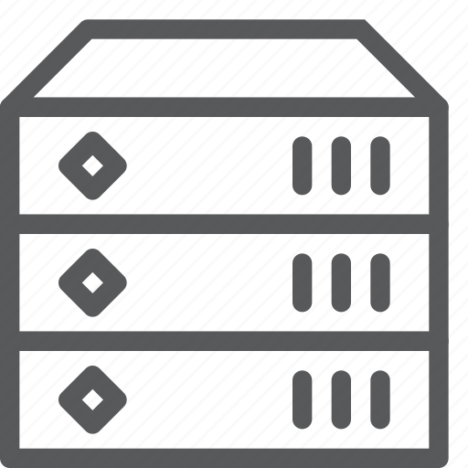 data, hosting, layers, network, server, storage, web icon